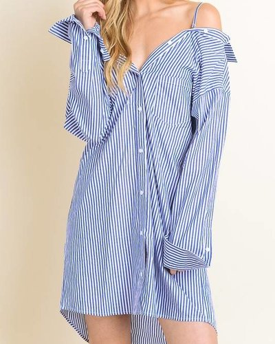 dress forum fd1841 stripe tunic