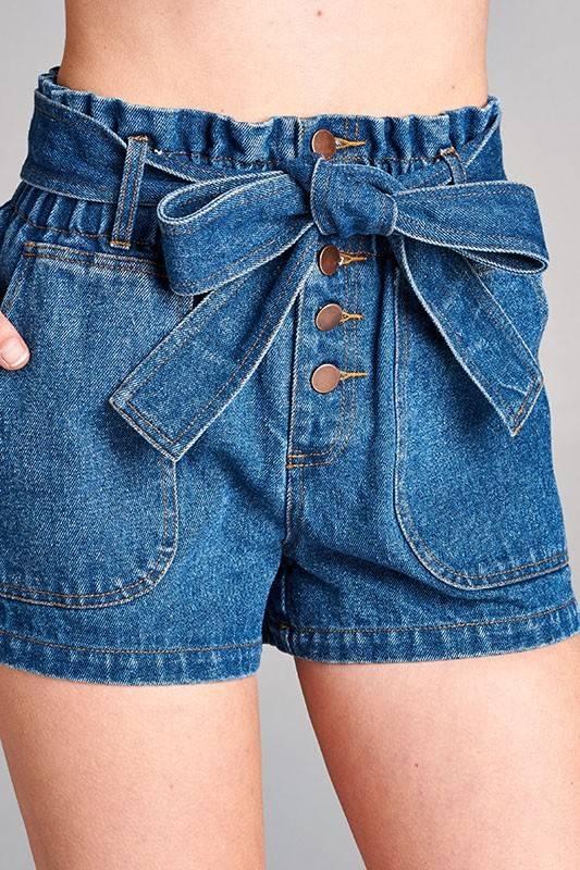Honey Punch ip3331c high waist shorts