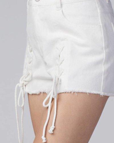 Honey Punch 7ip1022ab lace up shorts