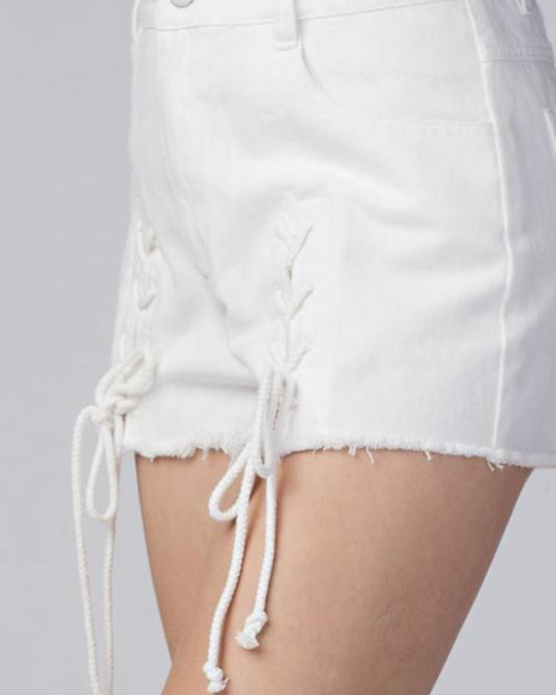 Honey Punch 7ip1022ab lace up shorts