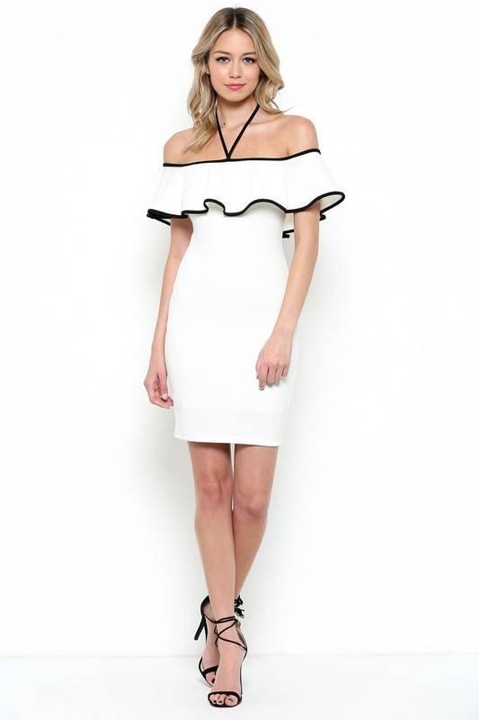 Sole Mio s7d1690k54 off shoulder dress