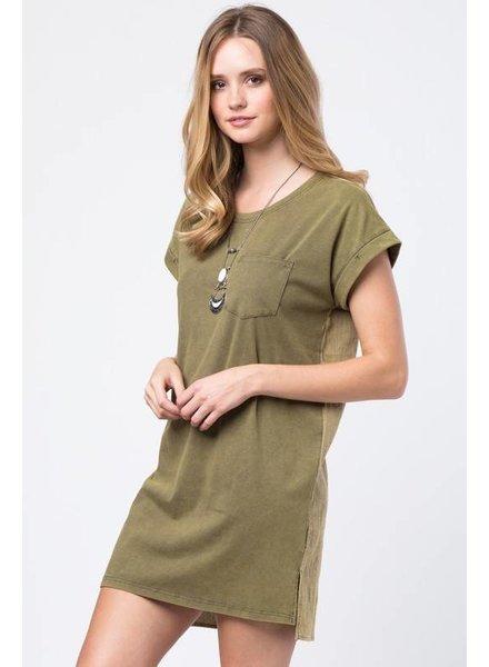 Love Riche LD41617 pocket t-shirt dress