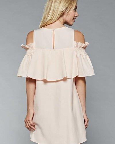 Do & Be Y13313 cold shoulder dress
