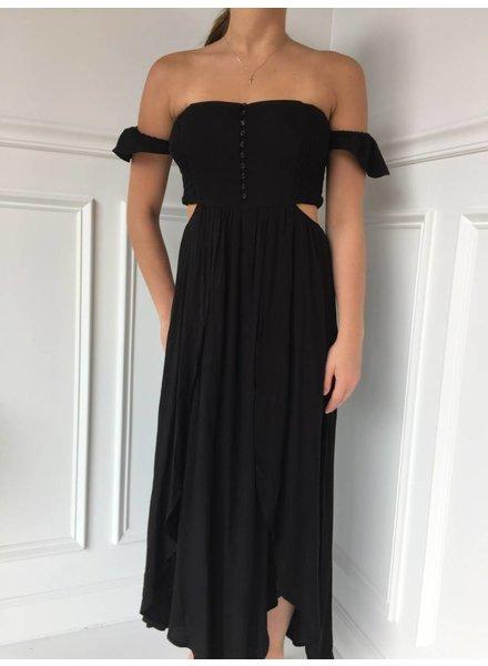 Lush ld42030-i cold shoulder dress