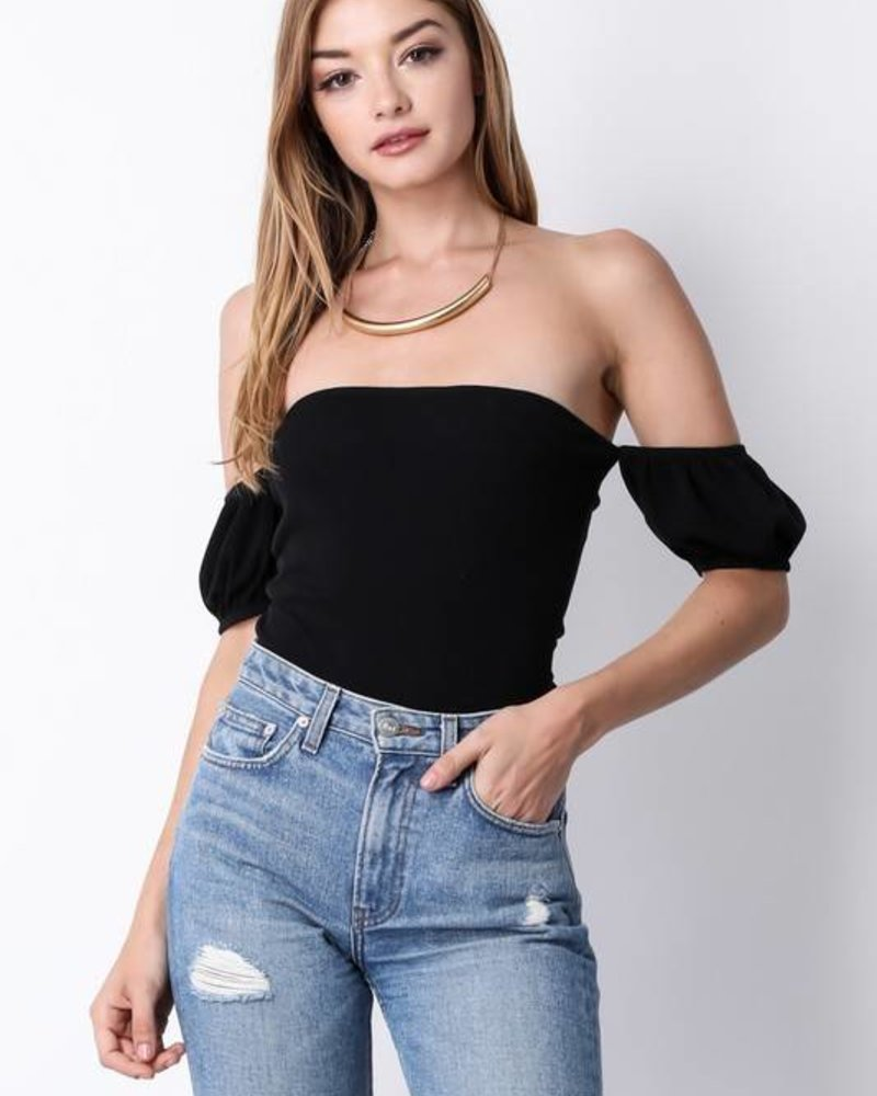 Blue Blush bt6365 off shoulder bodysuit
