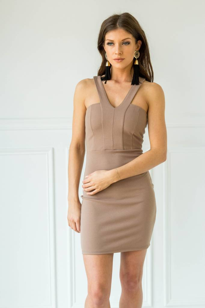 Blue Blush BD8510 bodycon dress