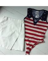 Lush s8047 zip skirt
