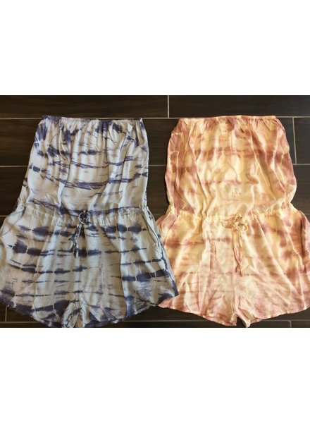 r90283h tie-dye strapless romper