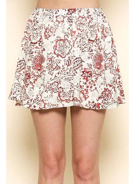 Sole Mio S7S2242N63 print skirt