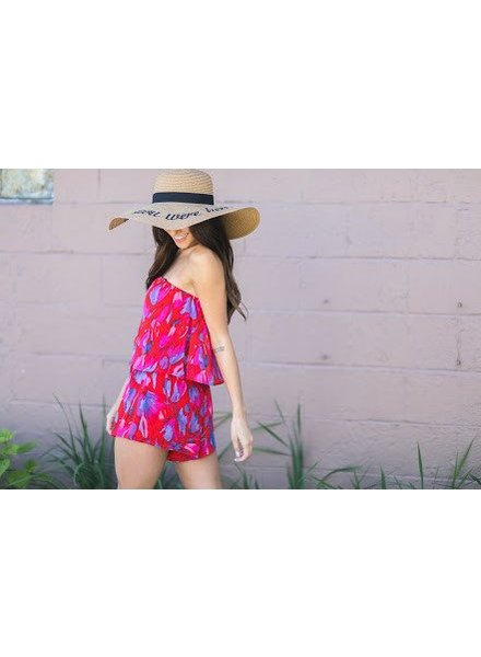 Honey Punch r1856c-5 tube top floral romper