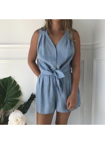 current air 1671048 tie front romper