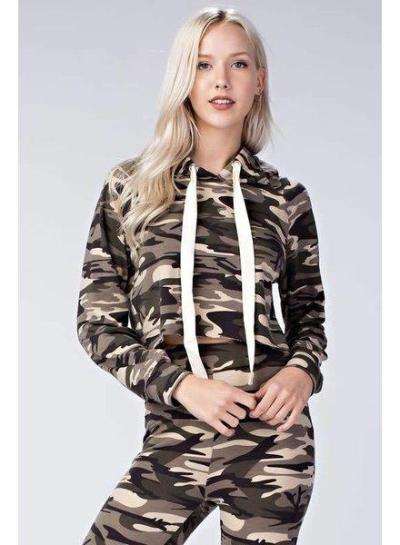 Honey Punch 7it1847c Camo hoodie