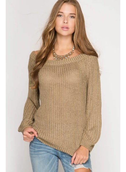 she & sky sl5246 pullover sweater