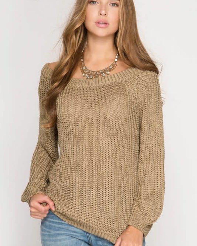 she & sky sl5246 pullover sweater