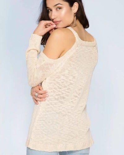 she & sky sl5047 cold shoulder sweater