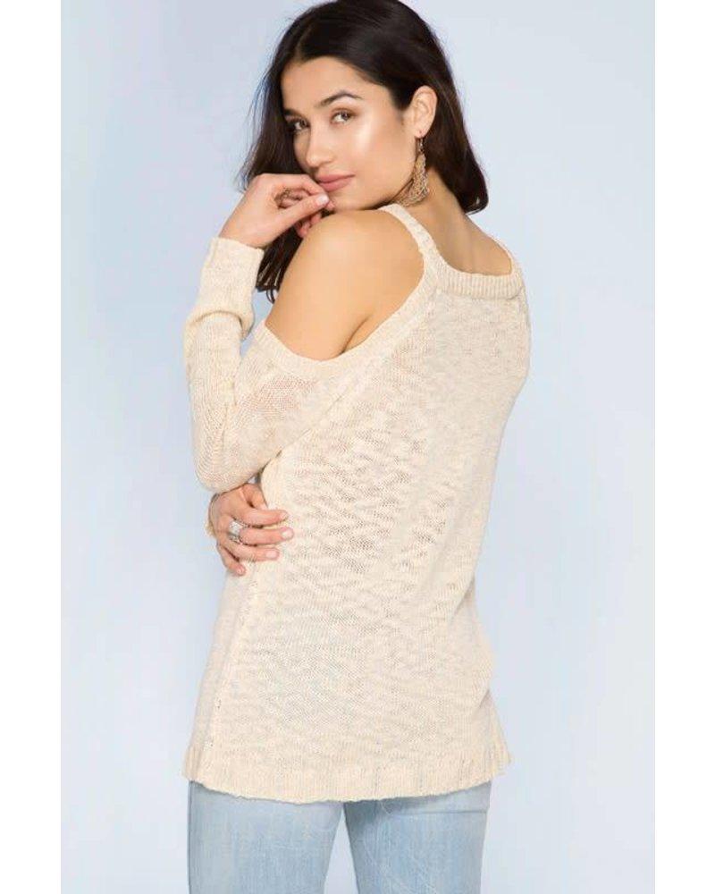 sl5047 cold shoulder sweater