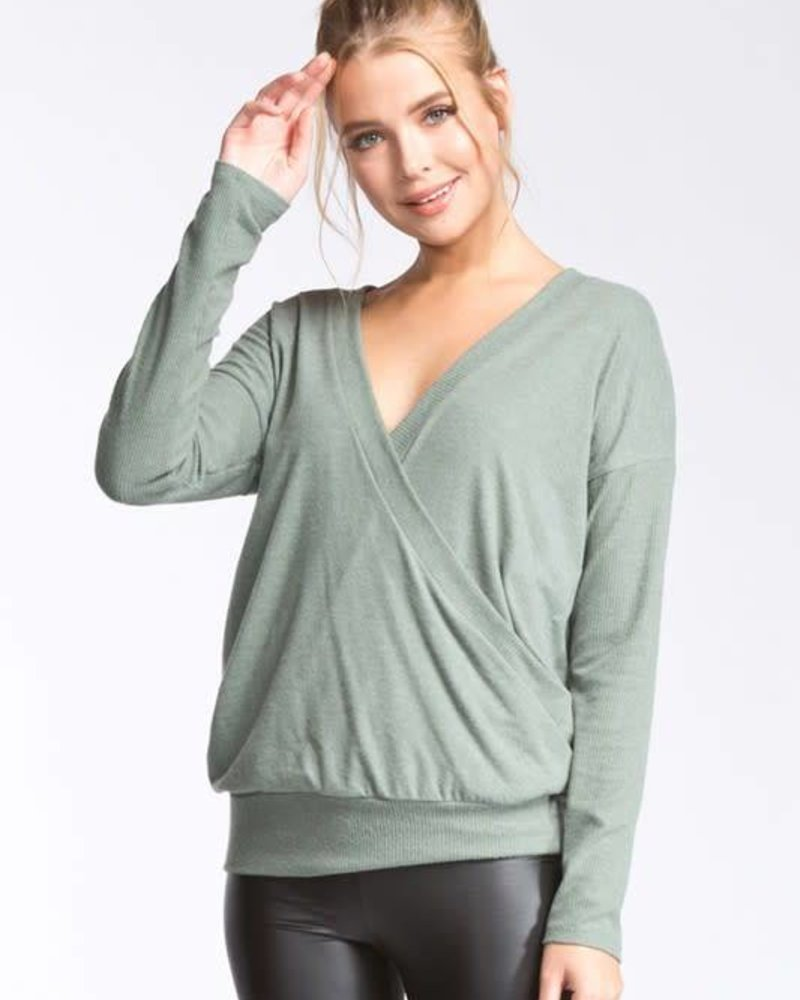 cherish T18856 wrap sweater