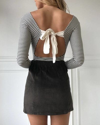 On Twelfth 1240272  button down mini skirt