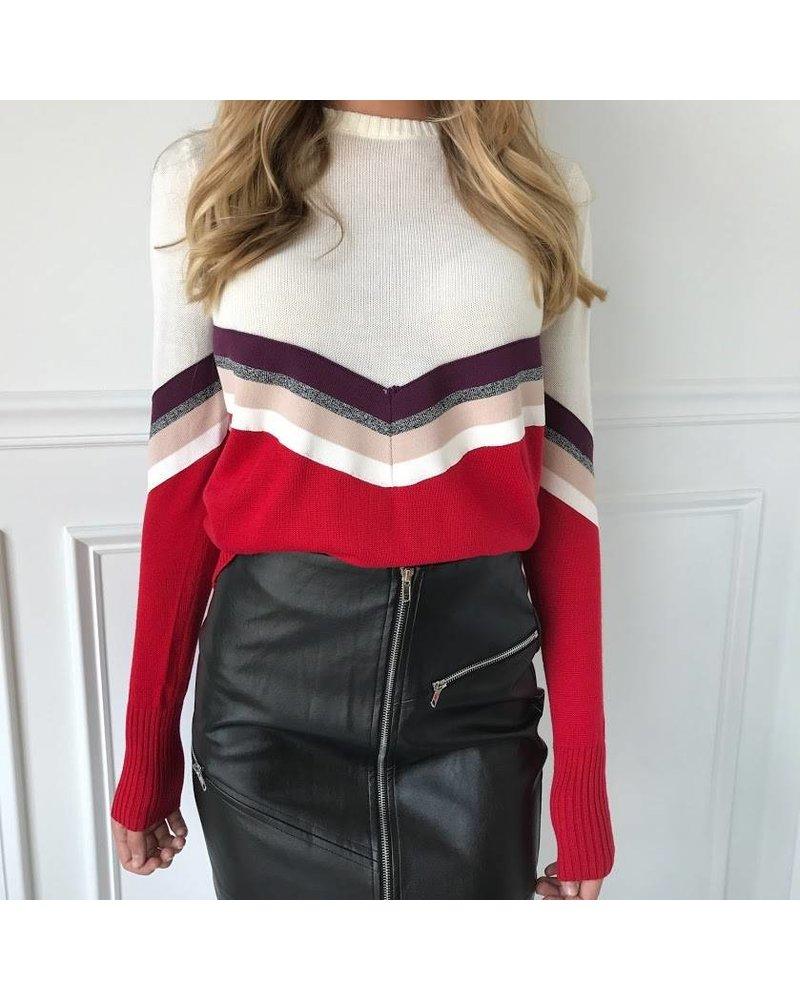 1220284 varsity brand stripe sweater