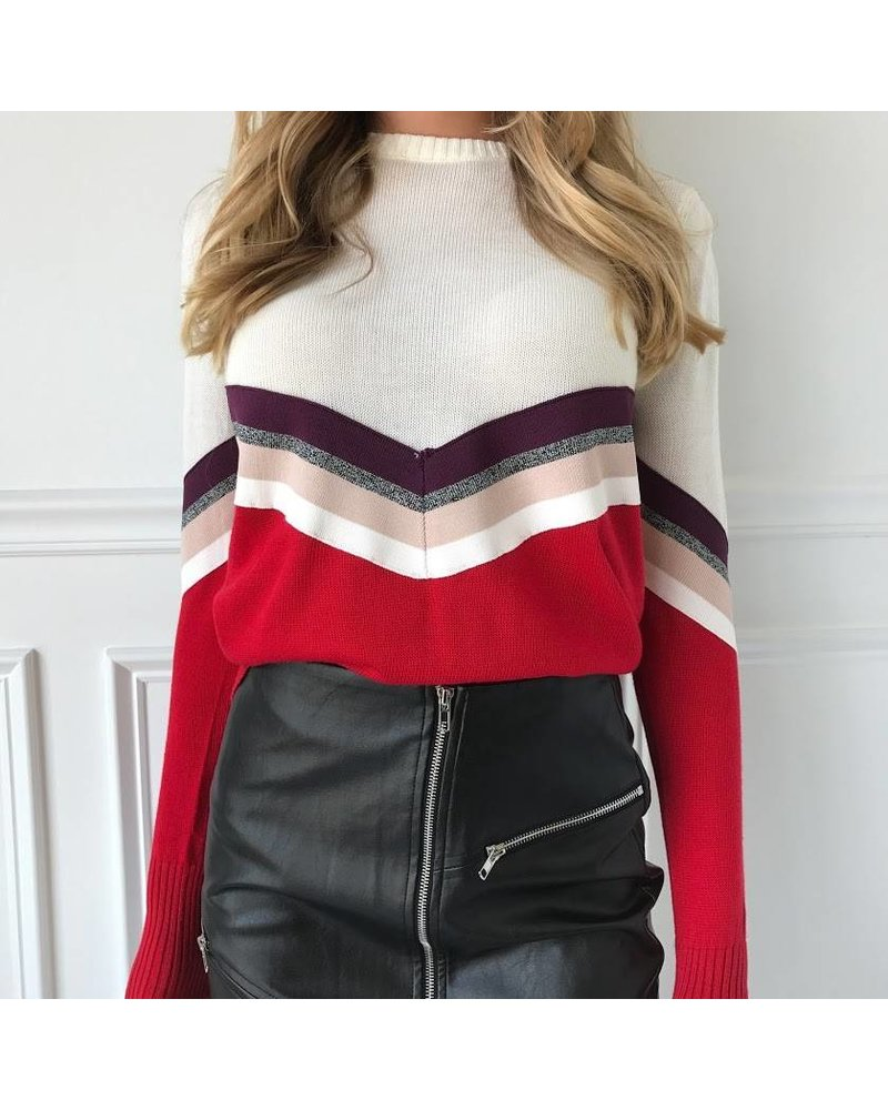On Twelfth 1220284 varsity brand stripe sweater