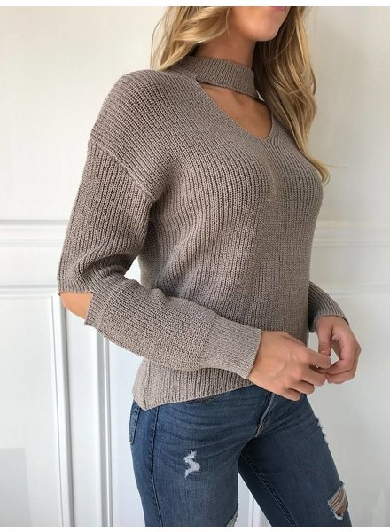 Lush LT13081-s01 cutout sweater
