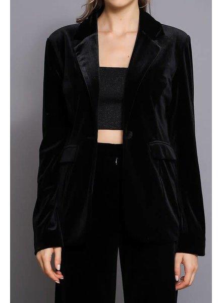 Do & Be R14367 velvet blazer