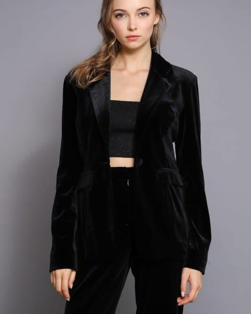 Do & Be R14367 velvet blazer