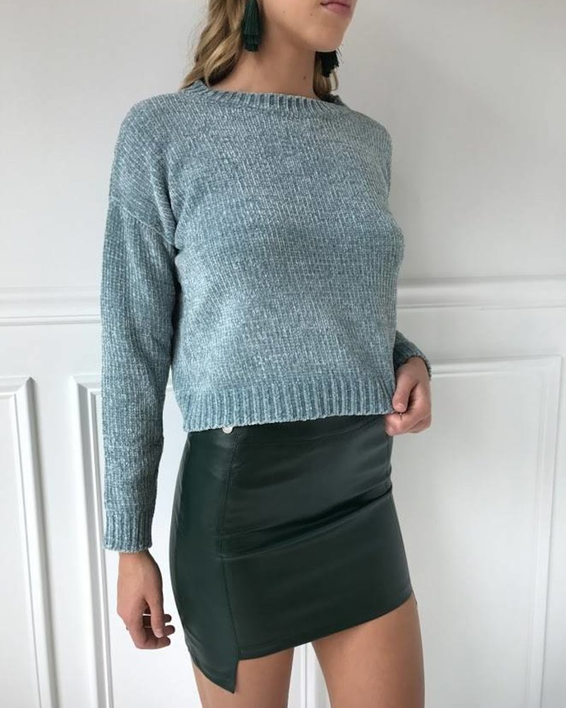 Blue Blush ibk6011 pleather mini skirt
