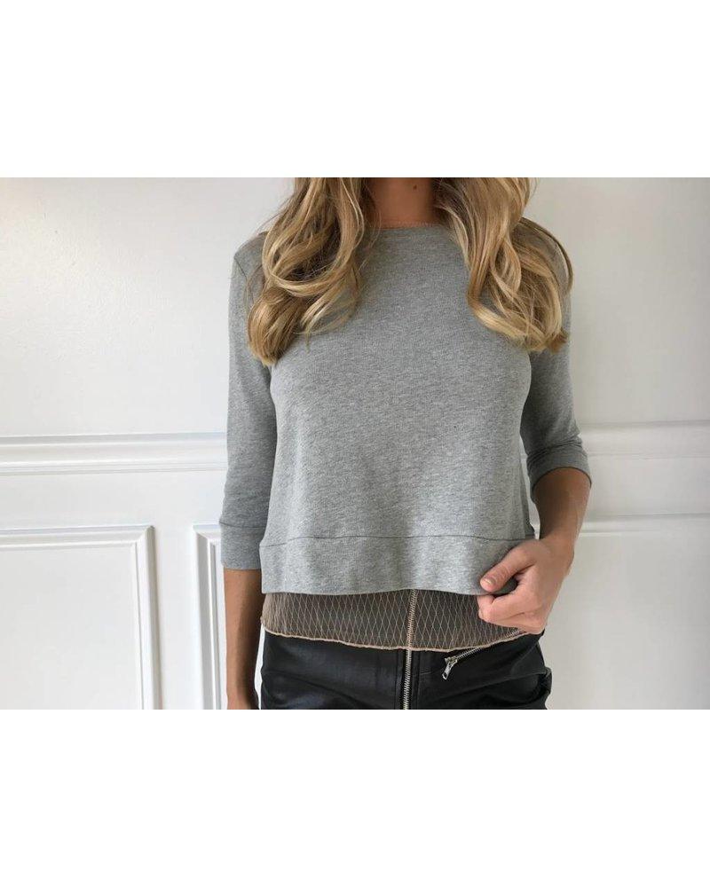 dmt2541 mesh sweatshirt