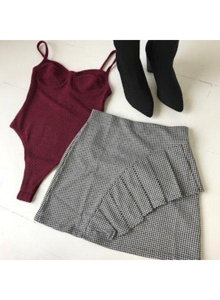 lumiere NS40367 mini skirt