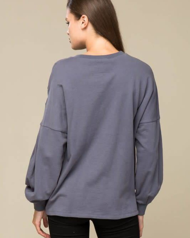 lumiere AT02726 French terry top