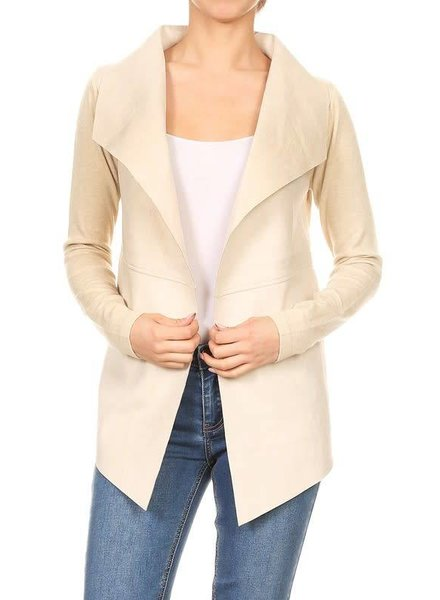 On Twelfth 1220067 solid suede jacket