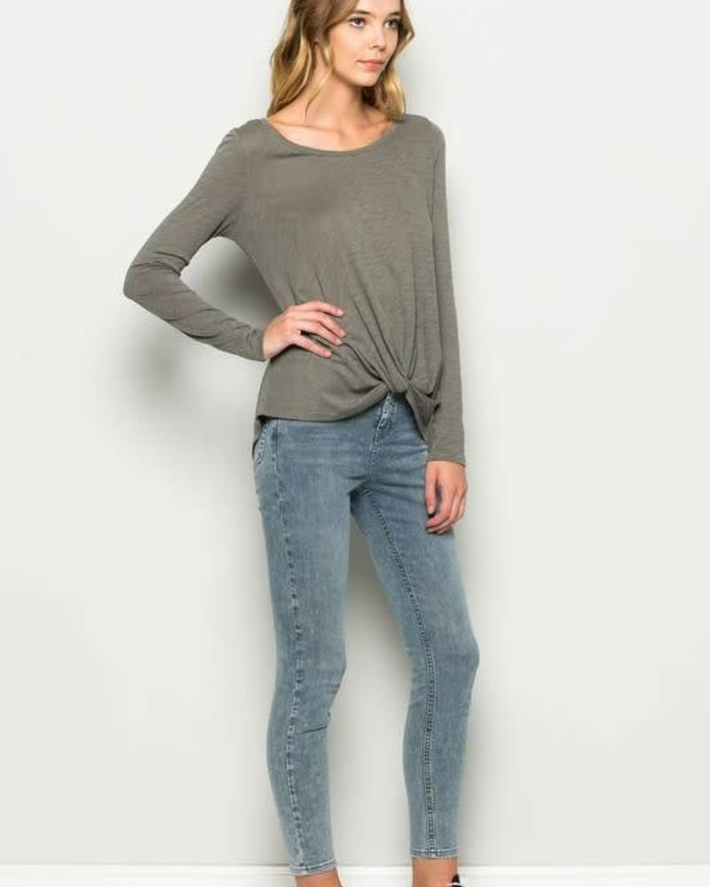 wasabi + mint wmt1535 front knot tee
