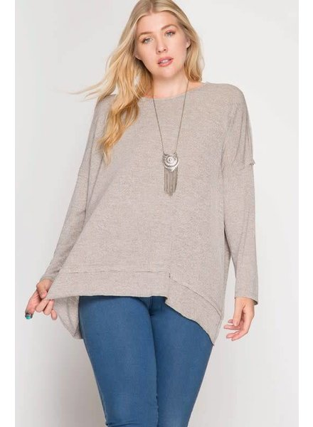 she & sky sl5458 twisted open back pullover