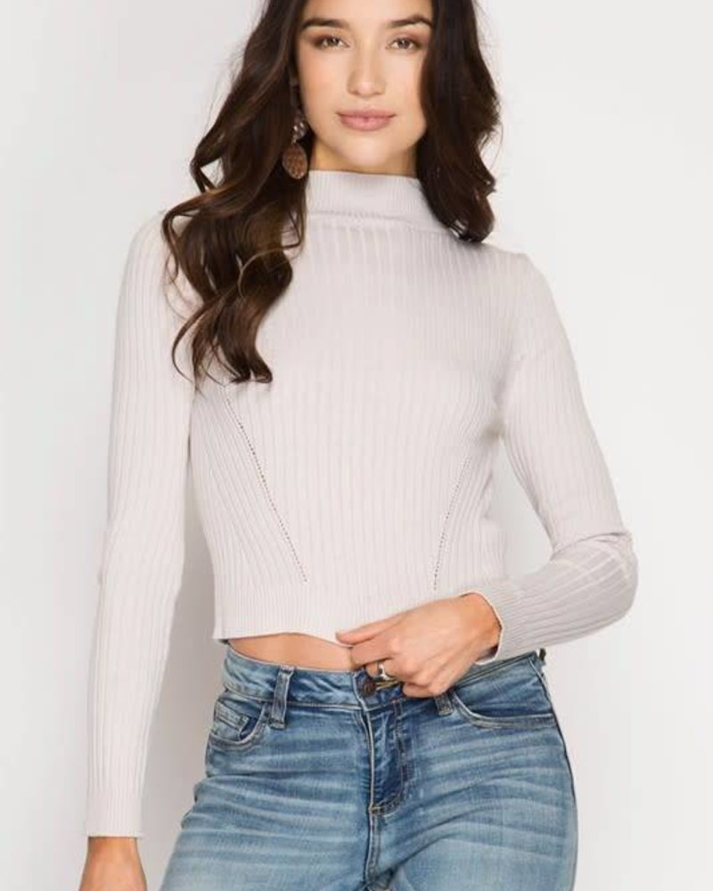 she & sky sl1211r ribbed crop top