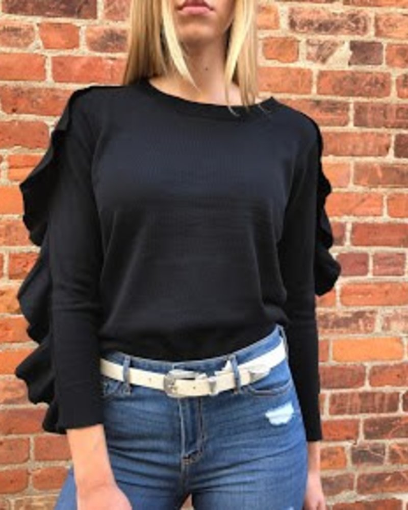 lumiere NT16854 sweater ruffle on slv