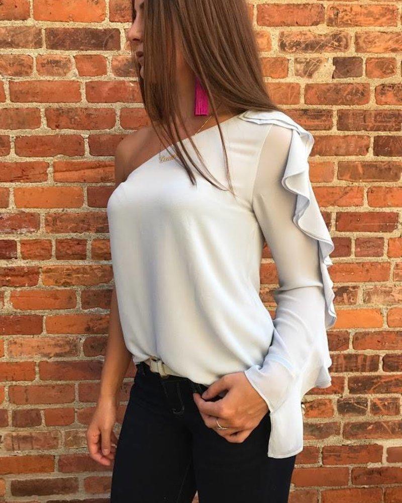 Naked Zebra sb110058 one shoulder blouse