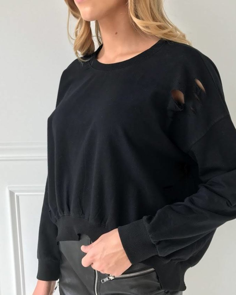 Vintage Shop VIT7600 lace up sweatshirt