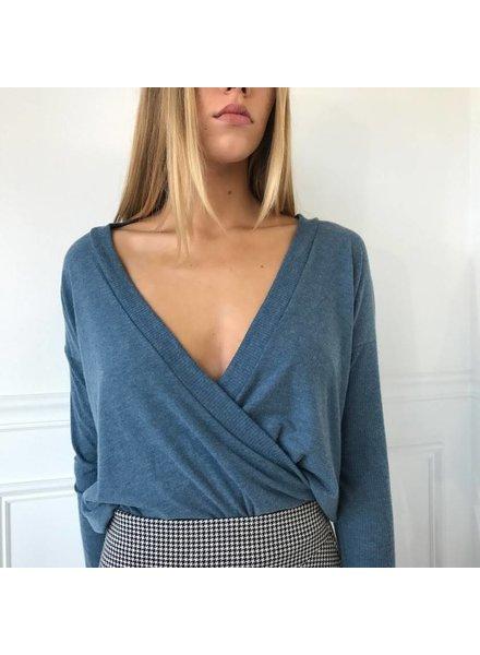 cherish T18856 wrap sweater