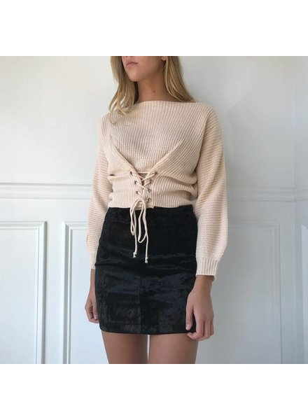 Blue Blush ibt6468 corset sweater