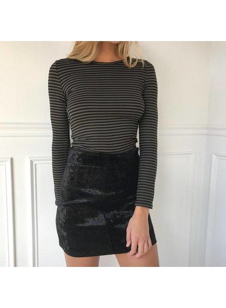 storia JS1166 velvet mini skirt