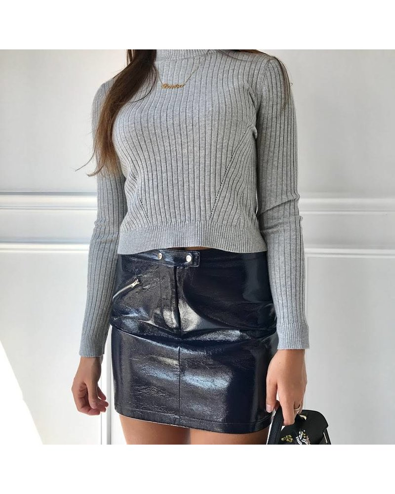 Do & Be Y14437 faux leather skirt