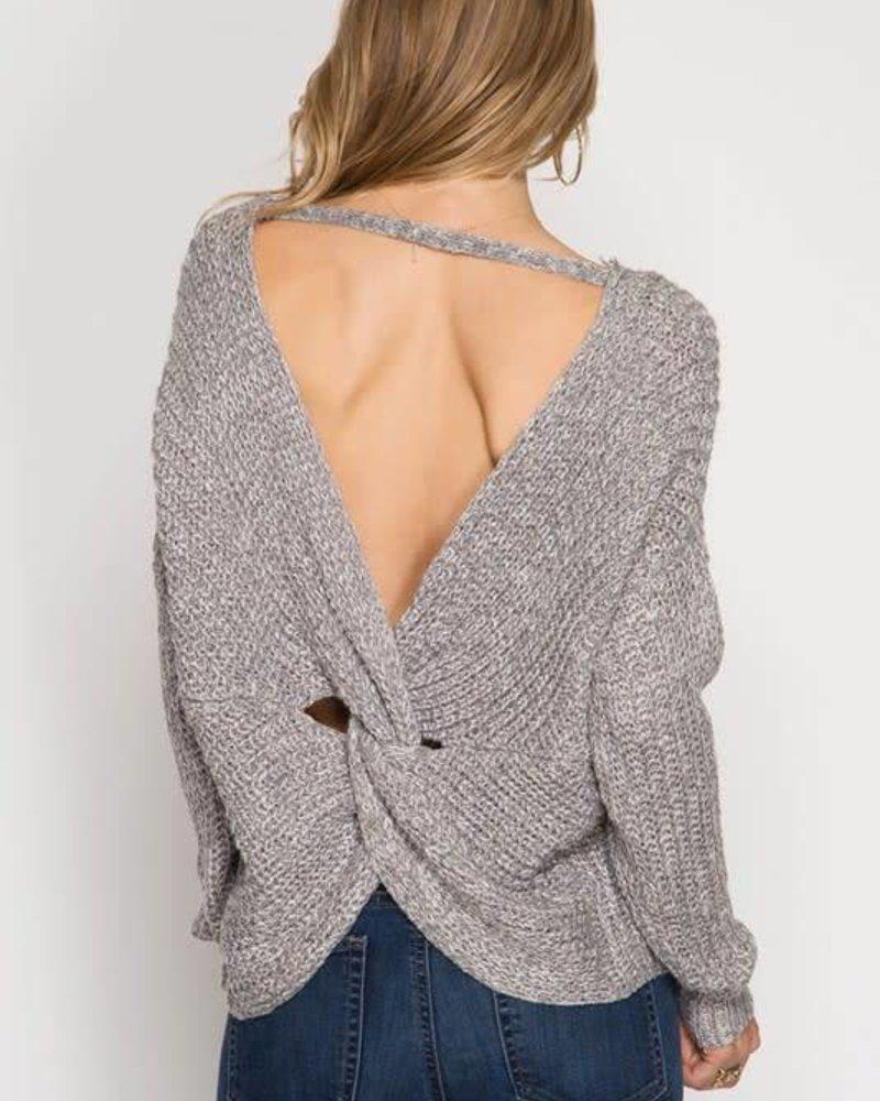 she & sky SL5714 sweater w/ back twist