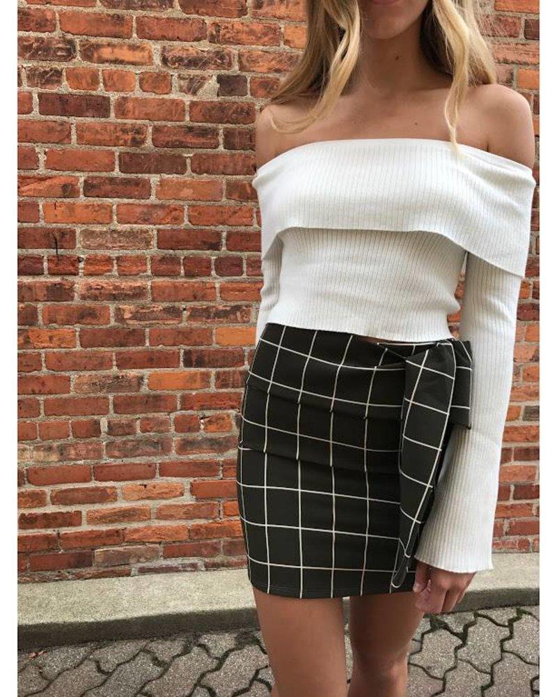 Blue Blush BK3012 Mini skirt  w/ waist tie