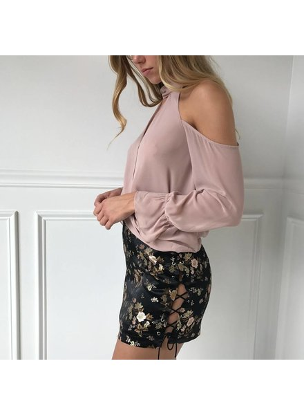emory park IMC1049S satin mini skirt