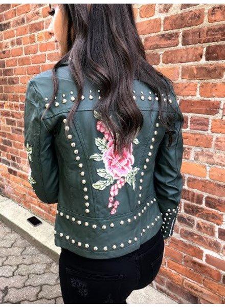 solaris 7255 studded moto jacket