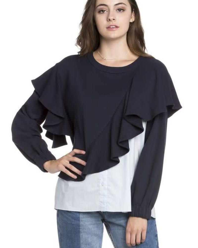 Dance  & Marvel DMT2542 ruffle sweatshirt