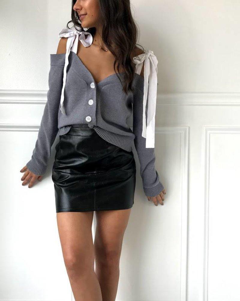 Do & Be Y14865 Tie shoulder cardigan