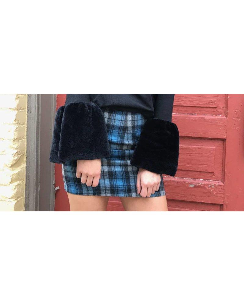 15N741 plaid mini skirt