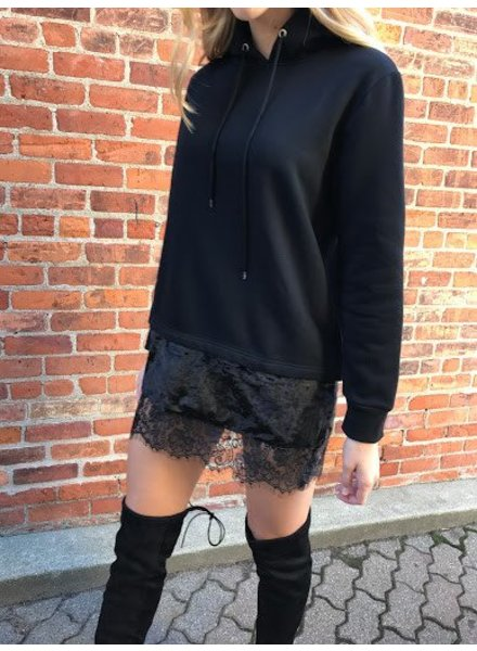 Love Riche LT23463 layered hoodie dress